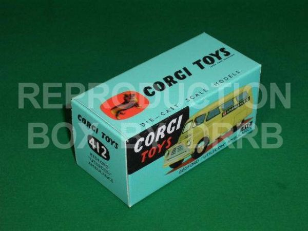 Corgi #412 Bedford Utilecon Ambulance - Reproduction Box
